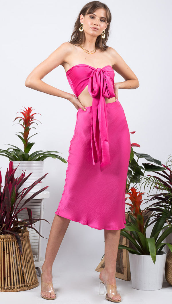 Everyday Slip Skirt - Hot Pink