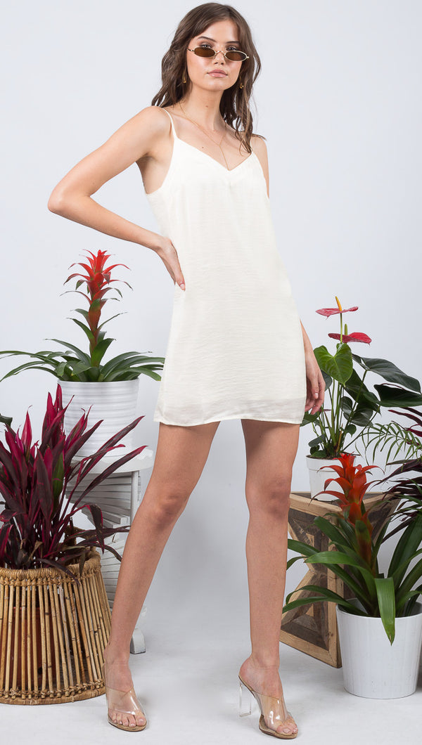Sienna Slip Dress - Pearl White