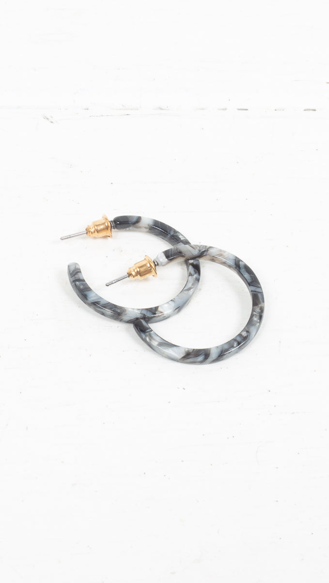 Tortoise Detached Hoops - More Colors/Sizes