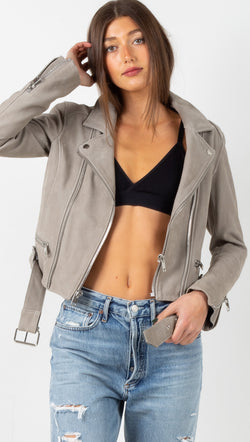 Astrid Leather Jacket - Sand Nubuck