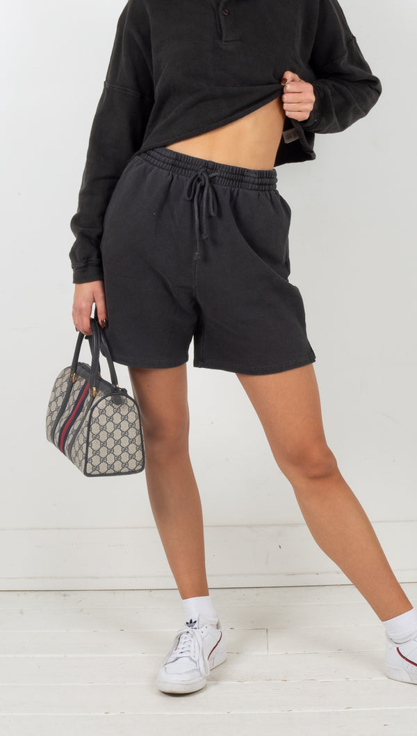 Blake Terry Knit Shorts - Charcoal