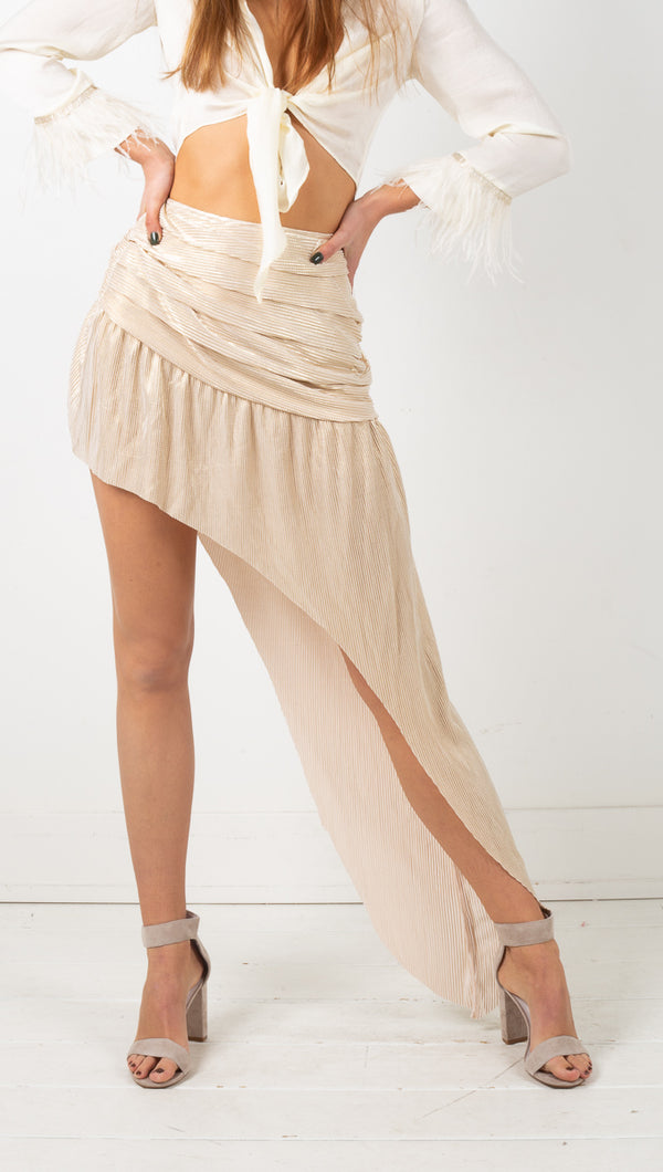 The Undecided Skirt - Metallic Gold
