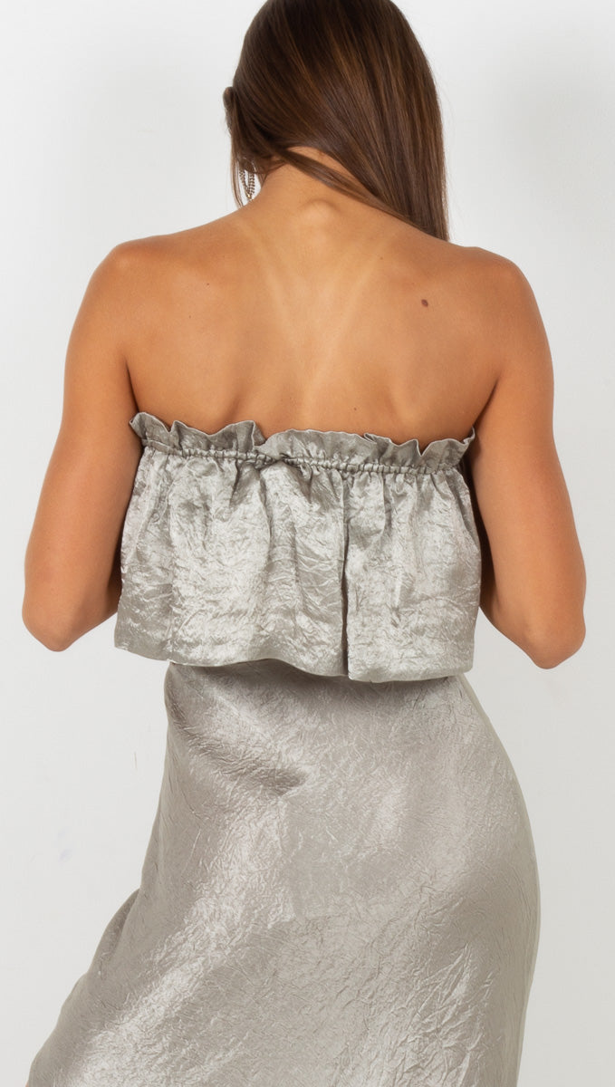 Waters Edge Strapless Top - Sage