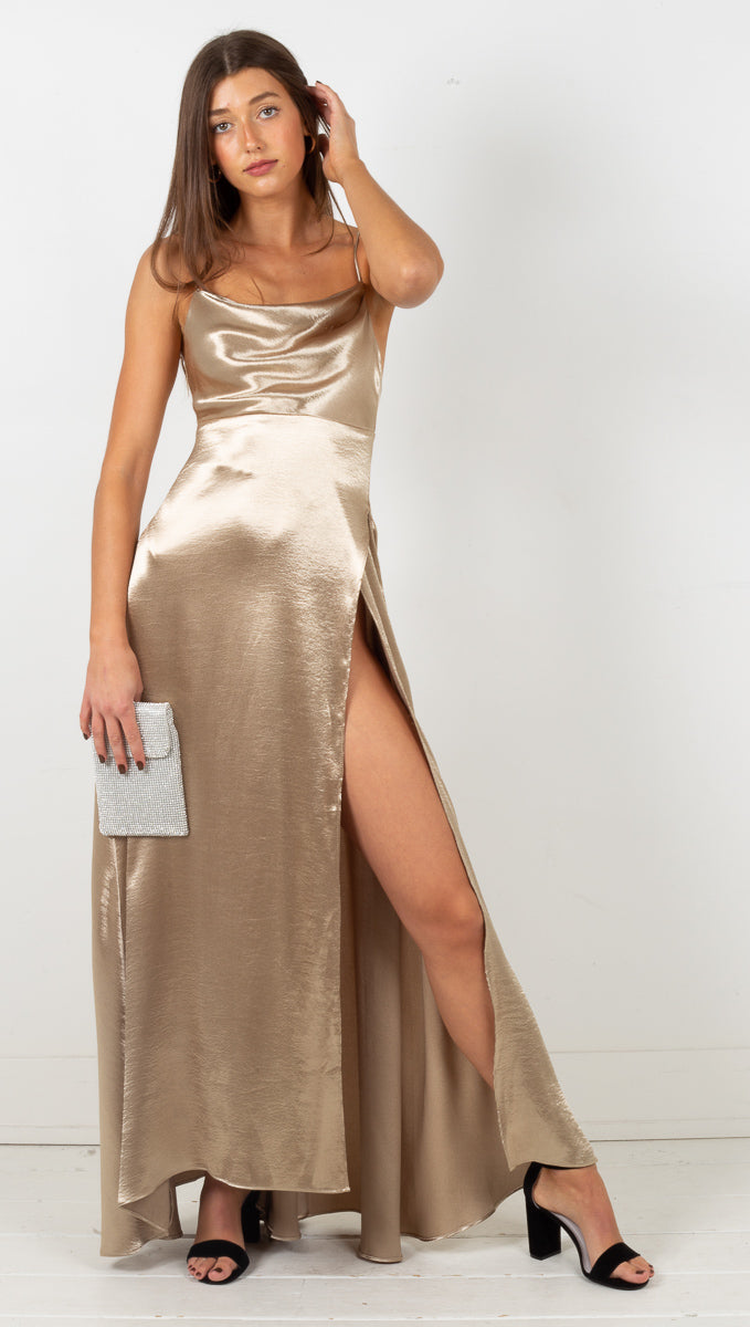 Aleah Maxi Dress - Gold