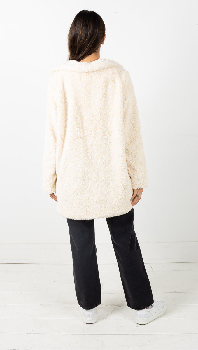 Gwen Teddy Jacket - Cream