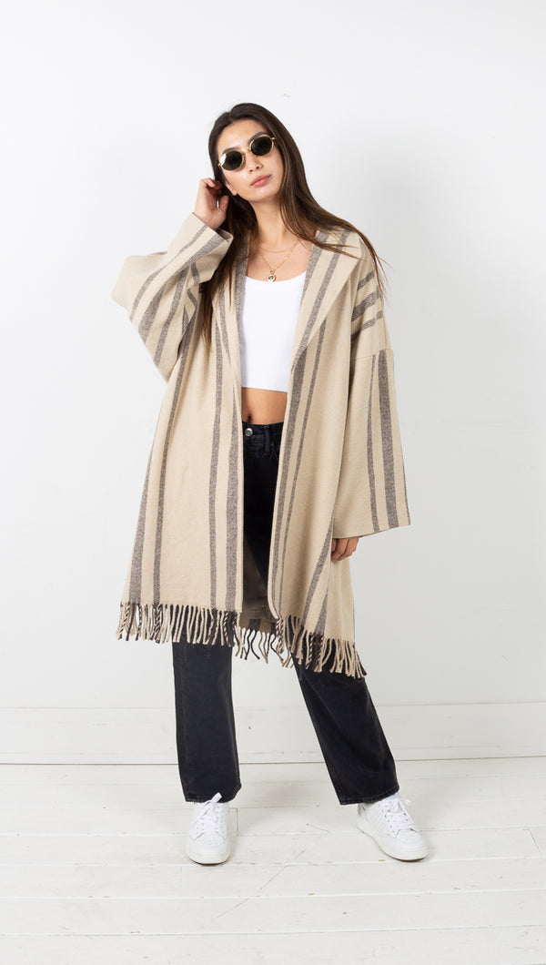 Magnolia Woven Coat - Off White