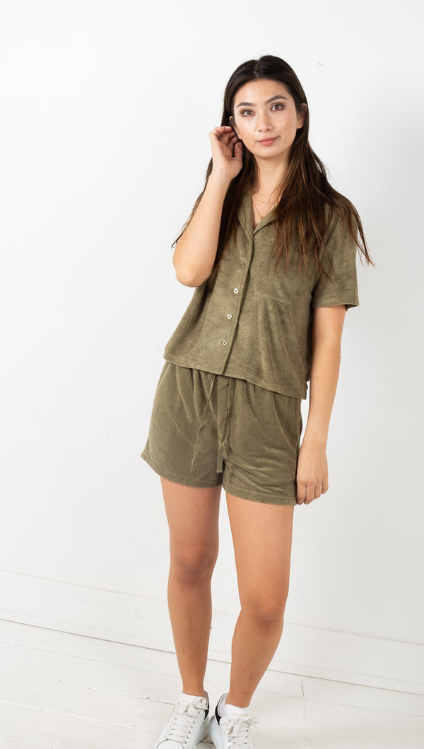 Mackenzie Two Piece Set - Olive