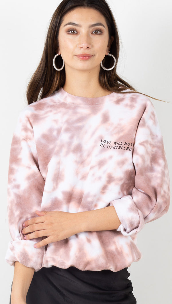 Love Will Not Be Cancelled Sweatshirt - Mauve