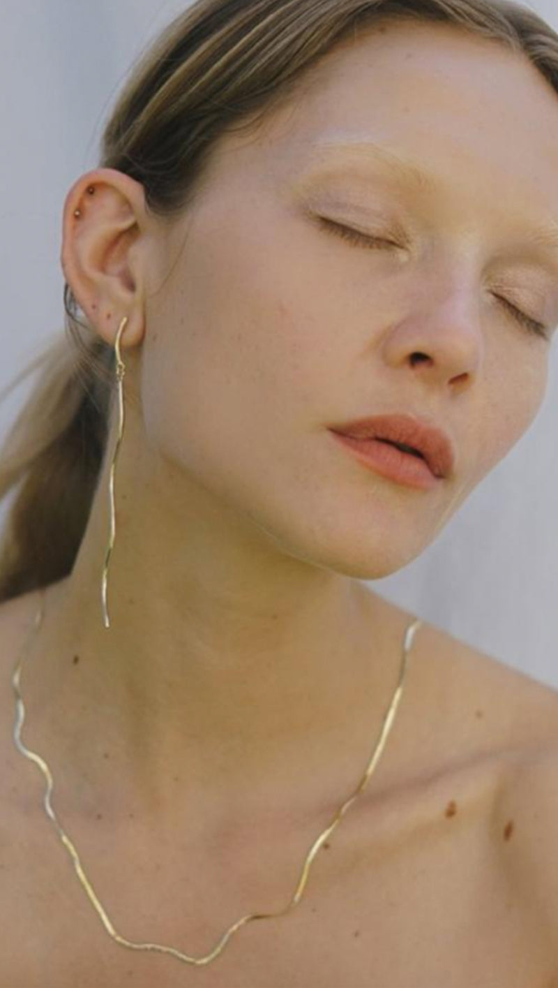 Liquid Chain Necklace - 14k Gold