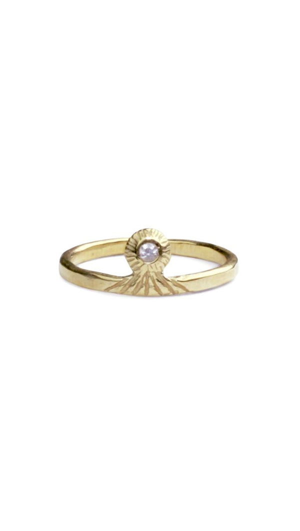 Amanda Hunt Vision Gold Ring with Yellow Gold/ White Diamond