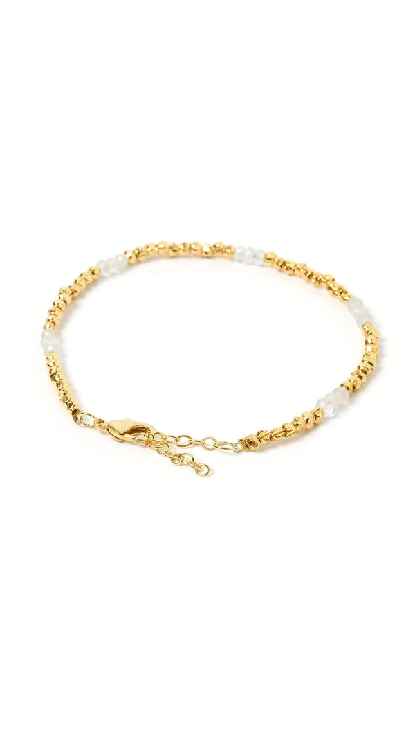 Amazon Bracelet - Gold and Moonstone