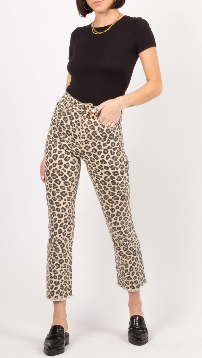 Amuse Society Leopard Pants