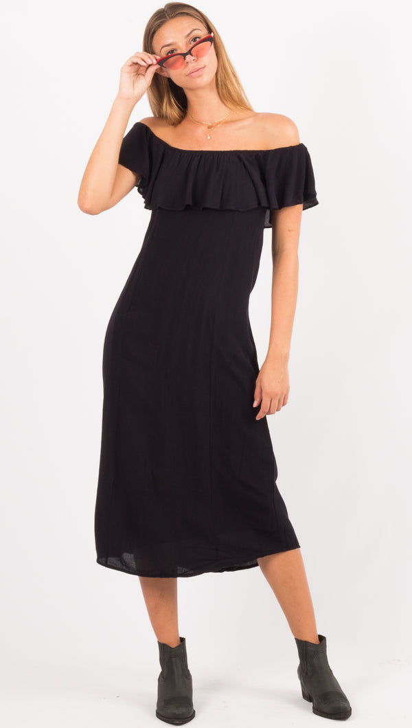Vista Del Valle Dress - Black