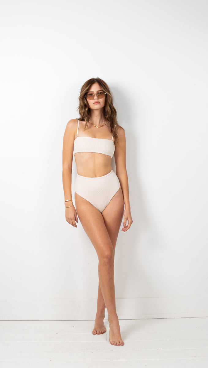 Jamieson High Waist Bottom - White Cap