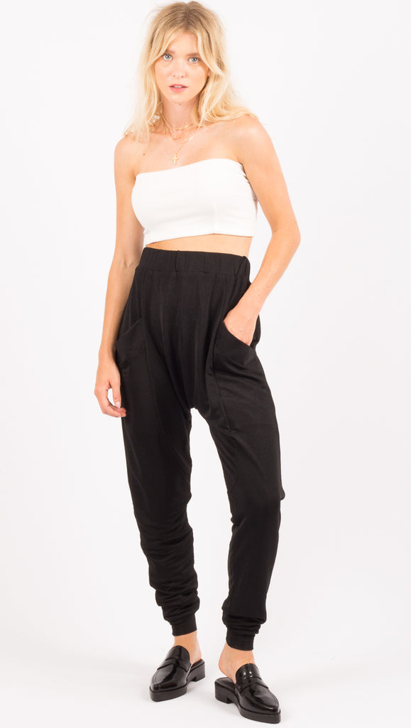 Atoir Black High Waist Drop Crotch Pants