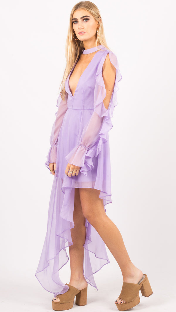 Not To Late Dress - Lilac