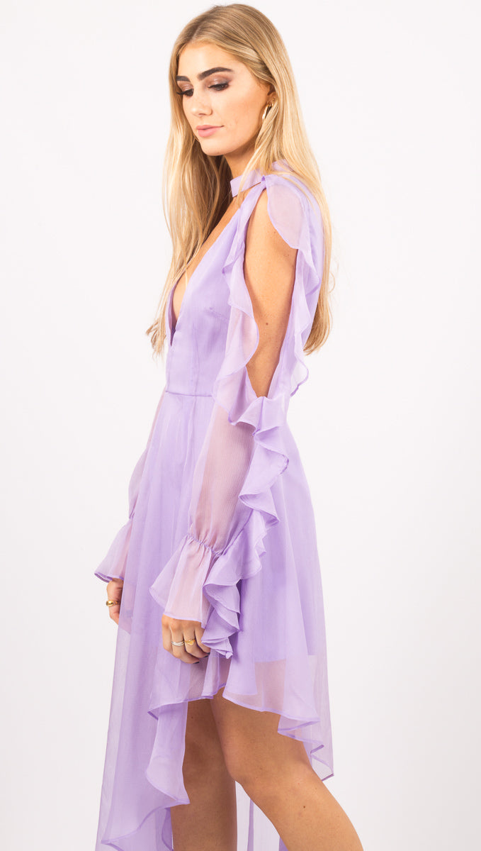 Not Too Late Dress - Lilac