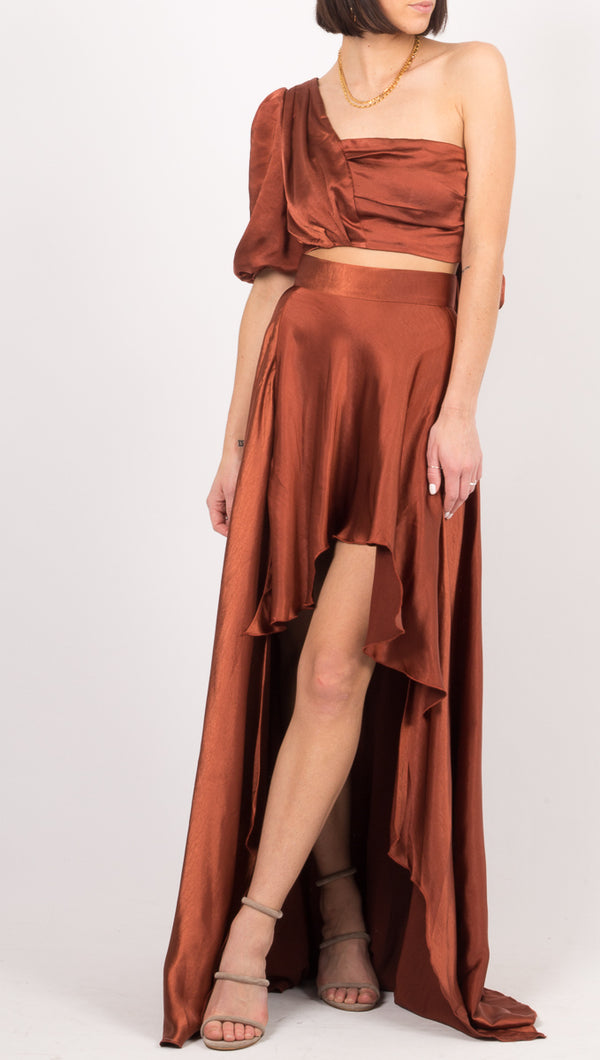 Atoir Rust High Low Skirt