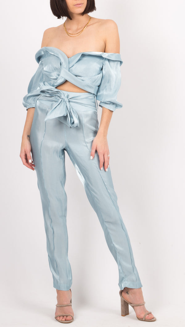 Atoir Light Blue High Rise Pants