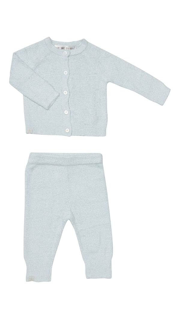 CozyChic Lite Infant Classic Cardi & Pant Set - Pale Blue