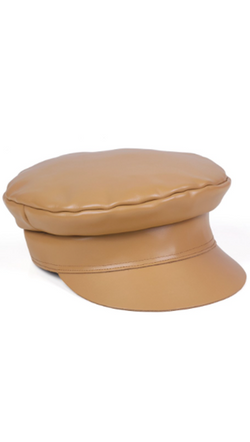 Lack Of Color Tan Leather Cap