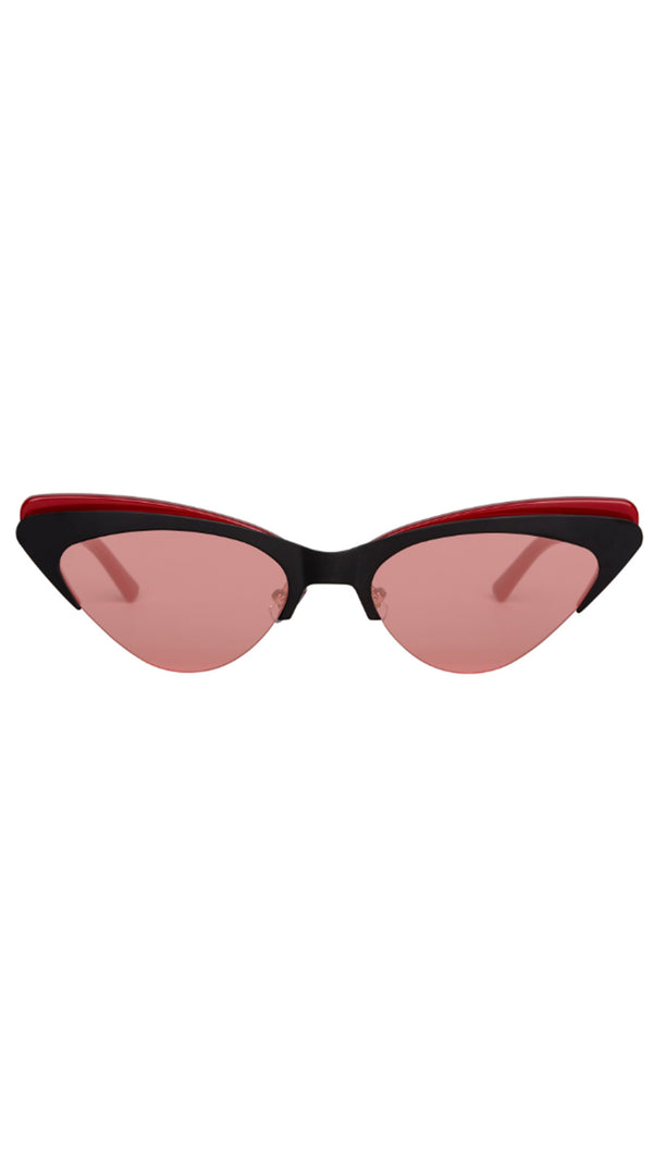 Bonnie Clyde Red and Black Cat Eye Sunglasses
