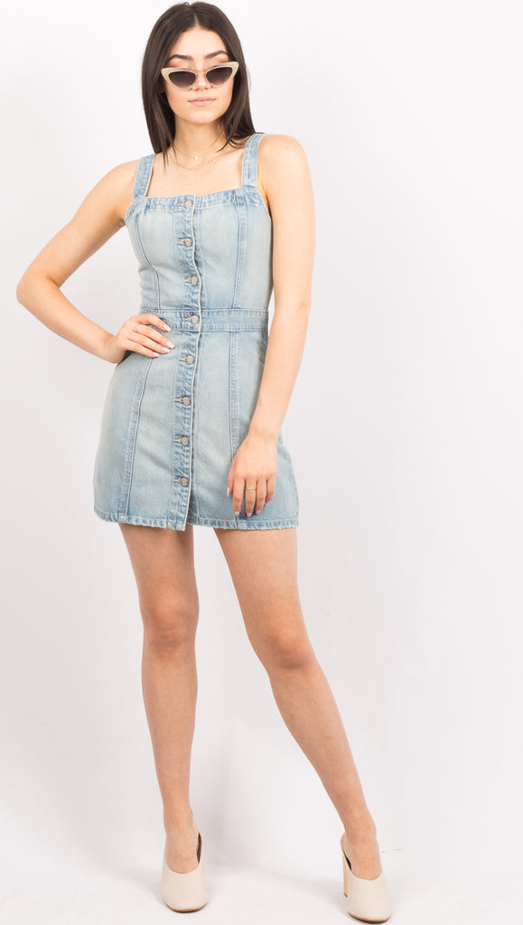 Blue Denim Mini Dress