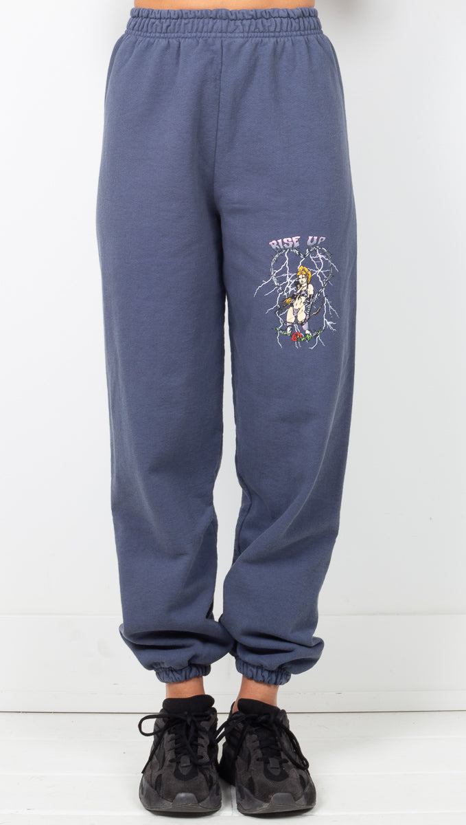 Rise Up Sweatpants - Denim