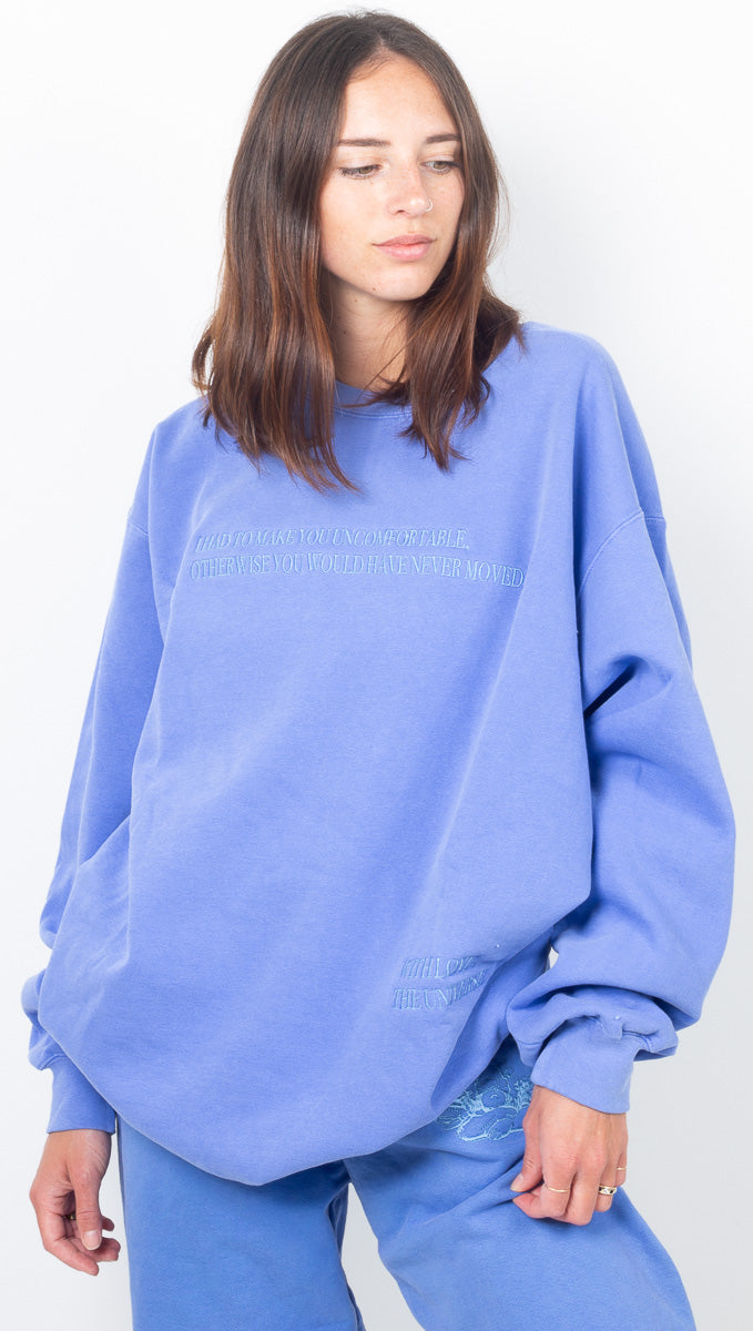 With Love Blue Sweatshirt - Decorated