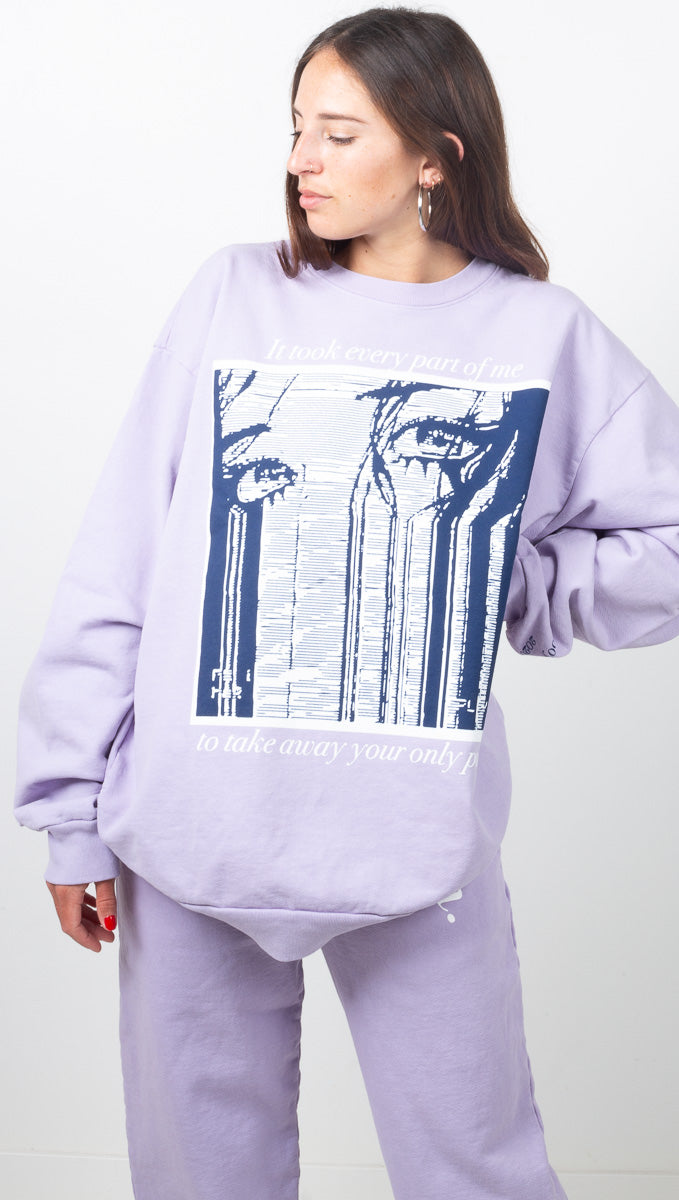 My Attention Sea Fog Sweatshirt - Blue