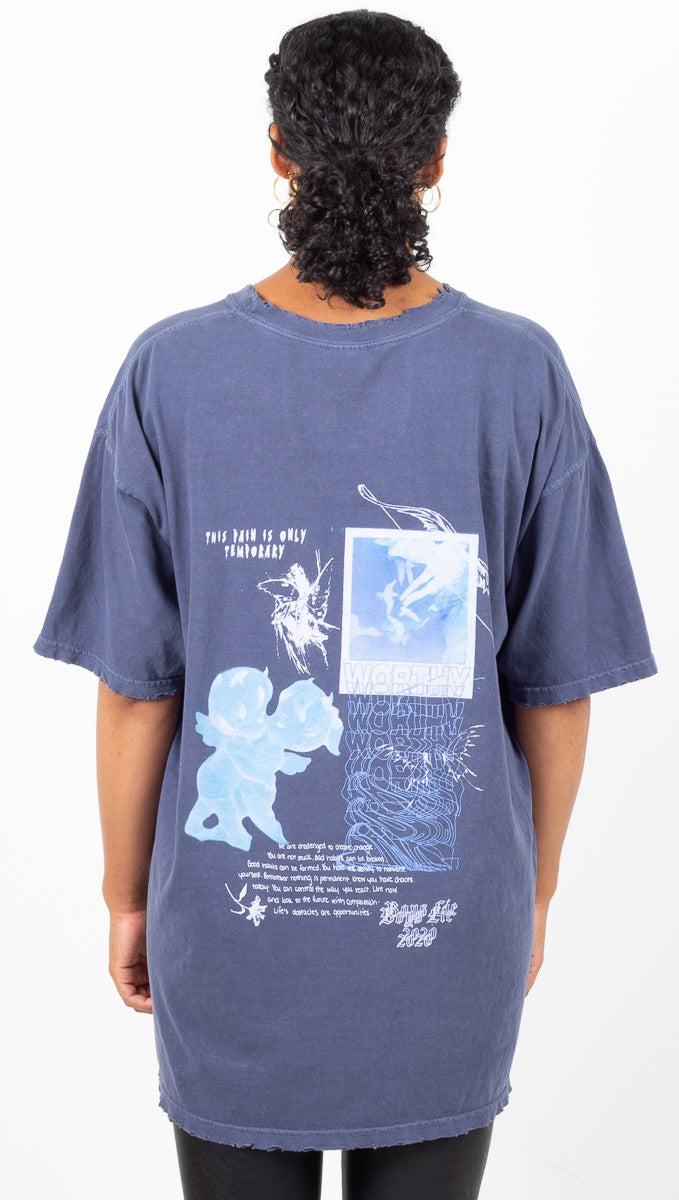 Dear Diary T Shirt - Navy