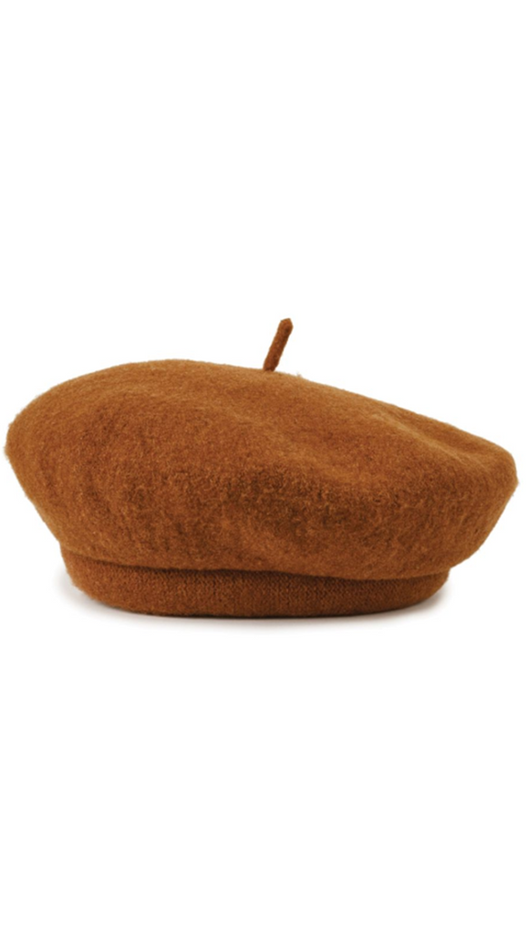 Brixton Brown Wool Beret
