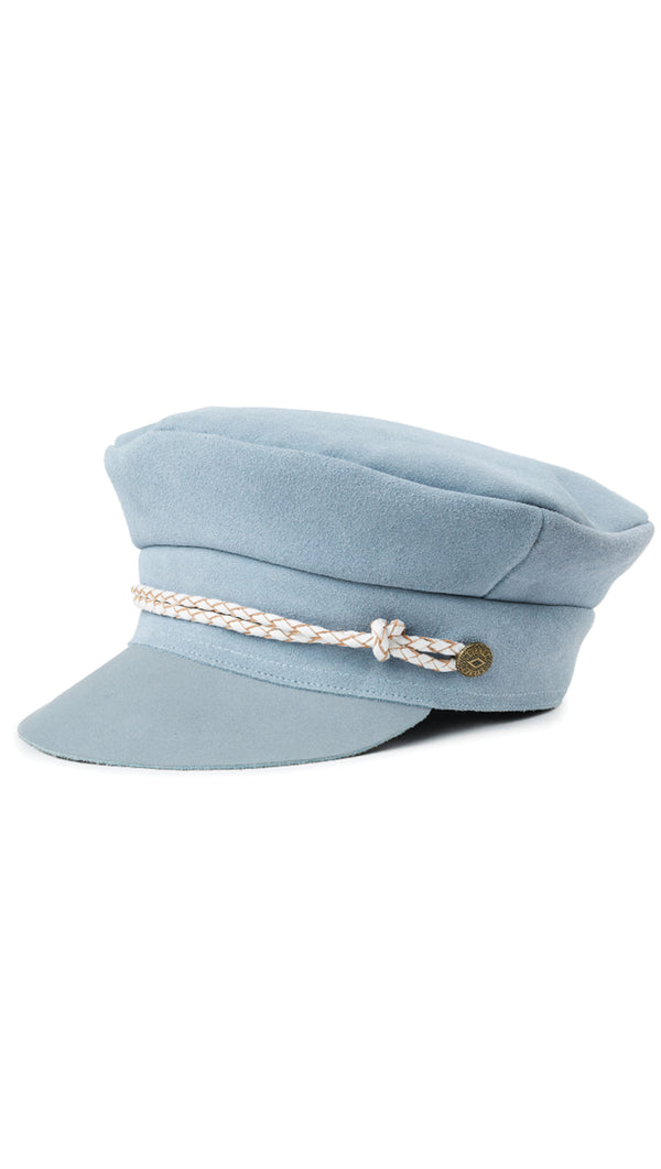 Brixton Light Blue Suede Lieutenant Hat