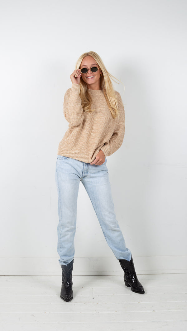 Vagabond Erica Knit Sweater Taupe