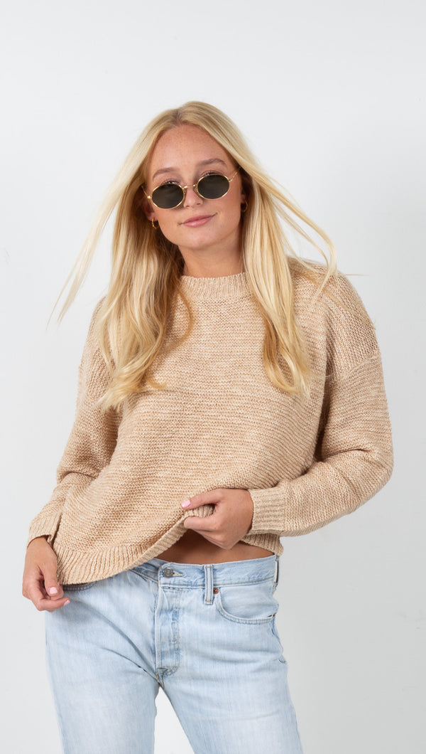 Erica Knit Sweater - Taupe