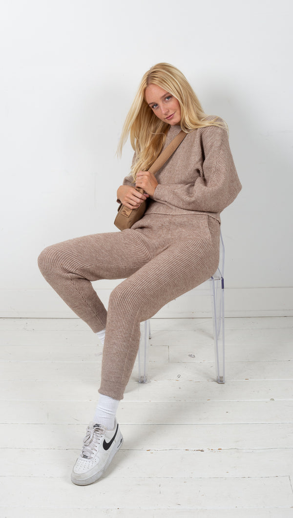 Vagabond Monroe Knit Lounge Set Toffee