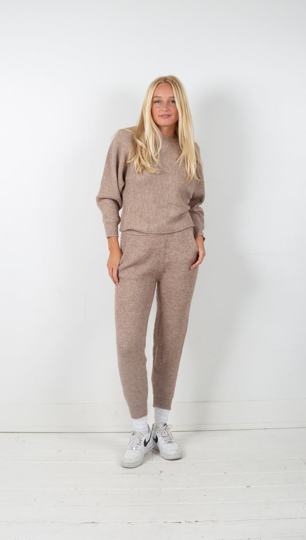 Monroe Knit Lounge Set - Toffee