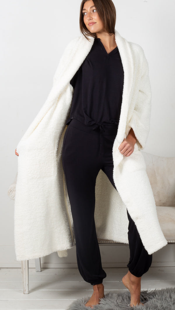 CozyChic Adult Robe - Pearl