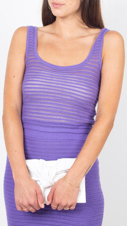 Callahan Purple Knit Crop Tank