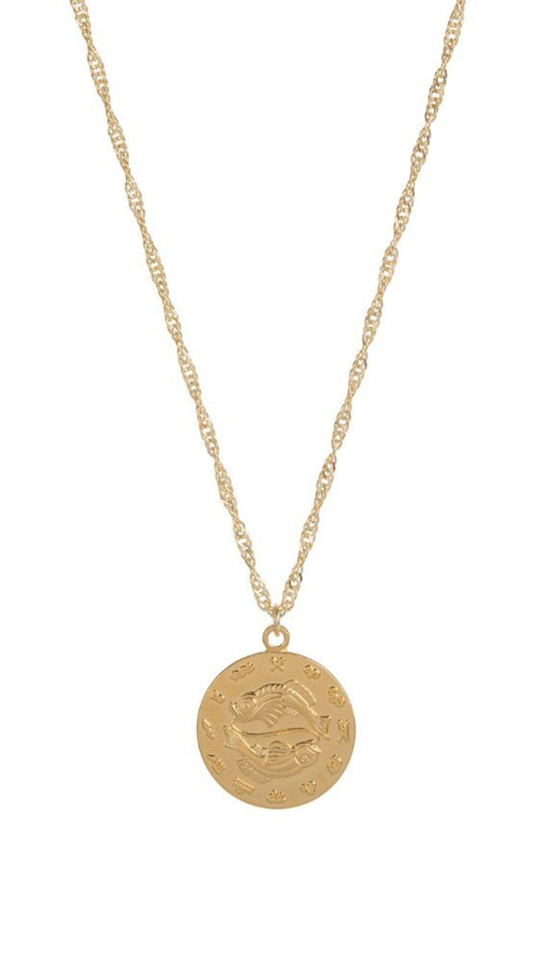 Cam Jewelry Gold Fill Zodiac Pendant Necklace