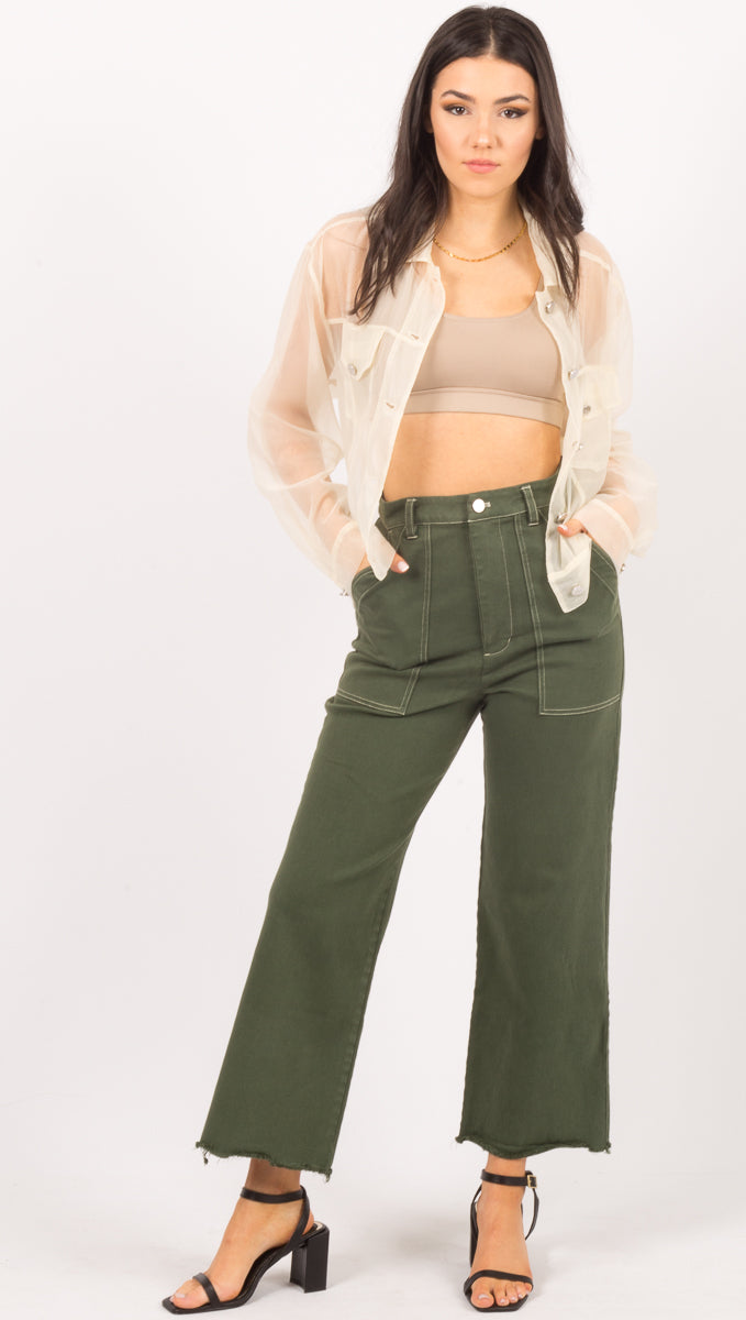 Clare Jeans - Basil