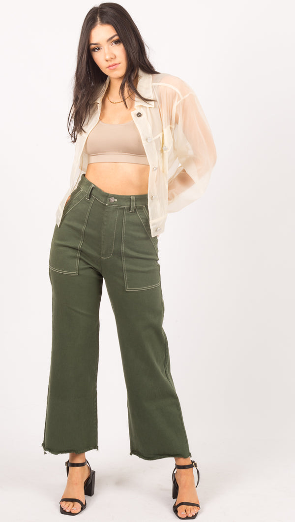 Capulet Green High Waist Pants
