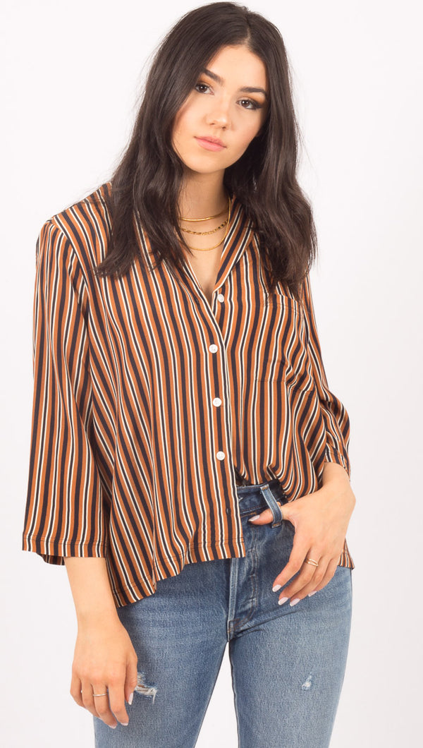 Capulet Stripe Button Down Shirt