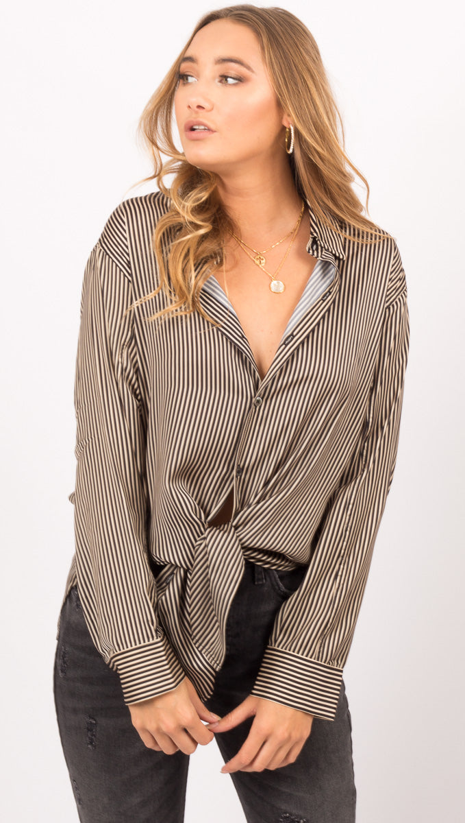 Capulet Multicolor Micro Stripe Button Down Shirt
