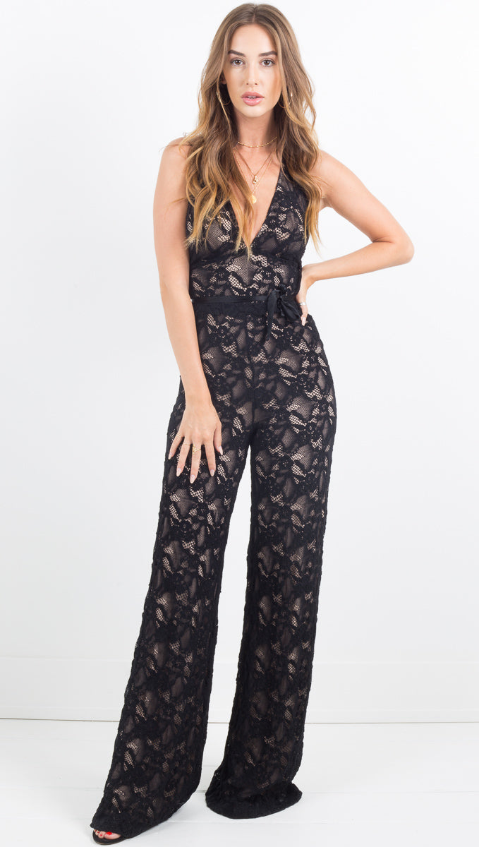 Wisteria Jumpsuit - Black