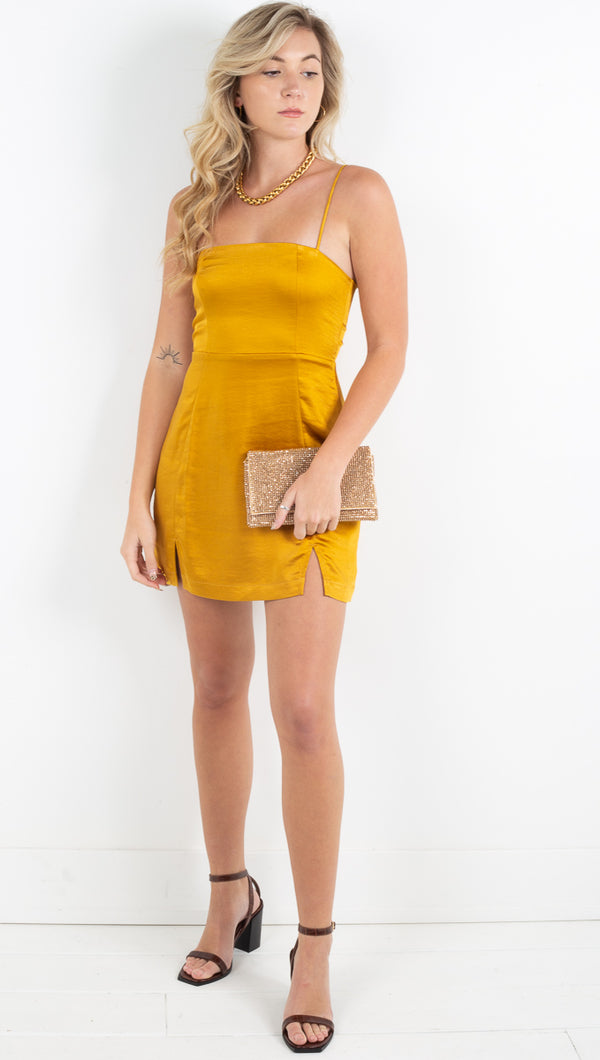 Berdine Mini Dress - Gold