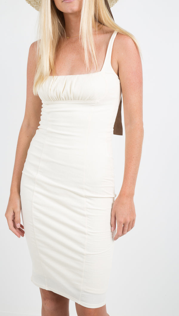 Capulet Jessa Midi White Bodycon Dress