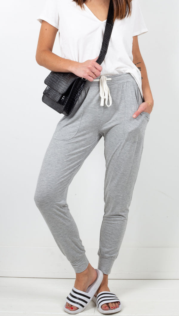 Vagabond Light Grey High Rise Soft Joggers