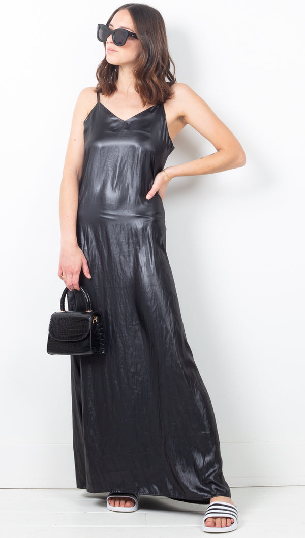 Liquid Gold Dress - Black