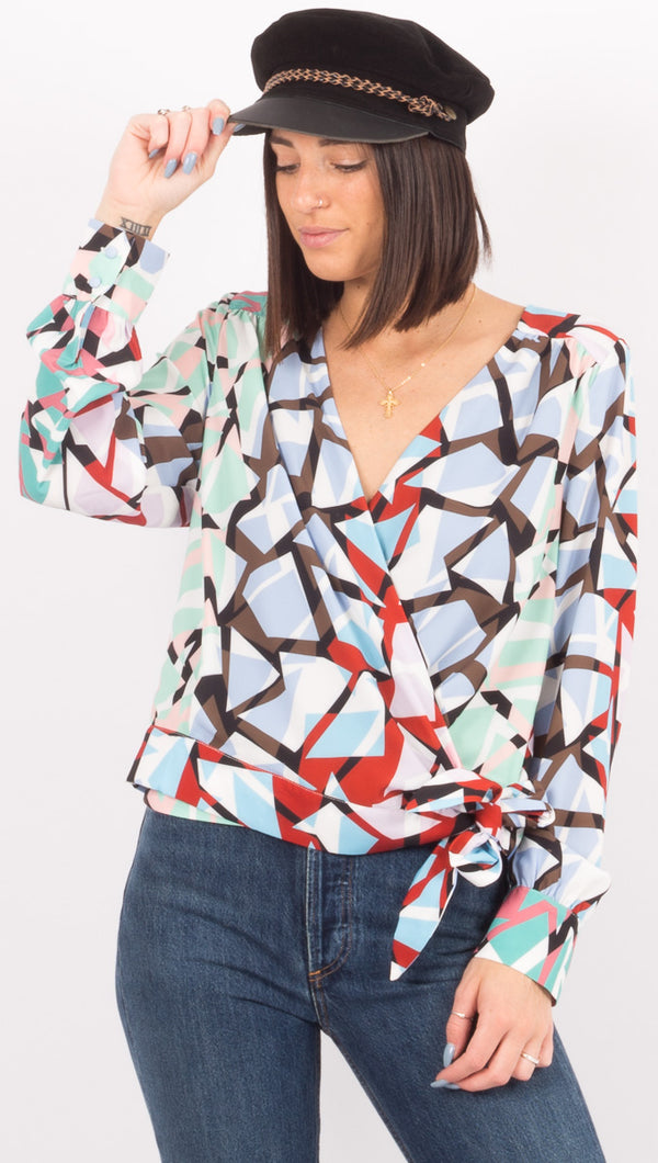 Pinnacle Blouse - Pinnacle Print